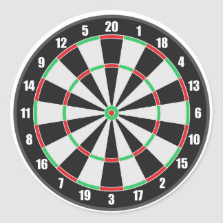 Sports Dart Board Classic Round Sticker