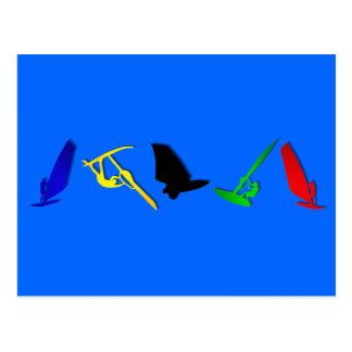 Sports de navigation de planche à voile de planche carte postale