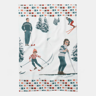Sports d'Hiver Kitchen Towel
