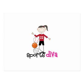 Sports Diva Postcard