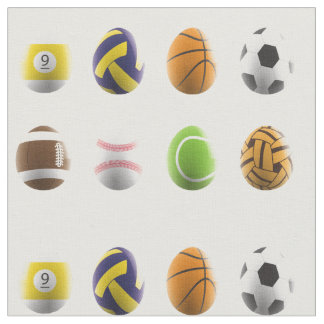 sports easter eggs fabric
