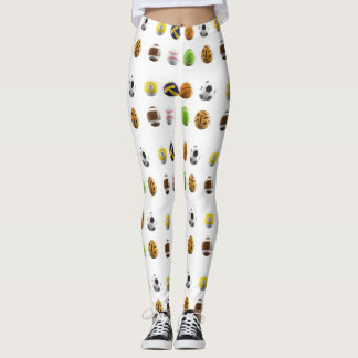 sports easter eggs leggings