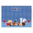 Sports Fan (Blue) Folded Thank you Card