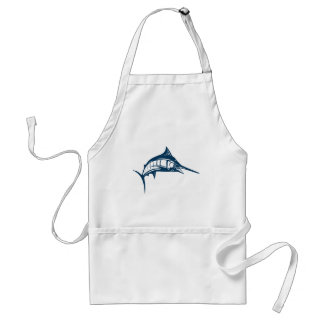 Sports Fishing Blue Swordfish Jumping Standard Apron