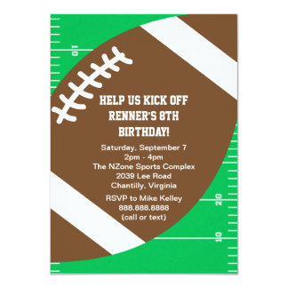 Sports Football Birthday Party Card