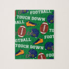 SPORTS Football Touch Down Fun Colourful Pattern Jigsaw Puzzle