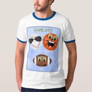 Sports Game Day Football Baseball Basketball Dads T-Shirt
