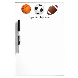 Sports Game Practice Schedules Dry Erase Board