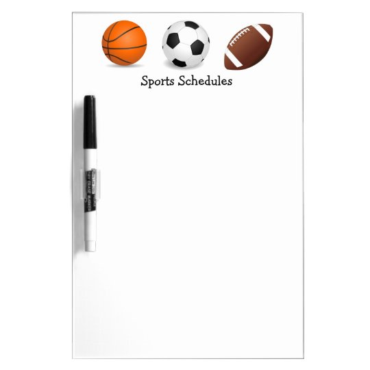 Sports Game Practice Schedules Dry-Erase Whiteboard