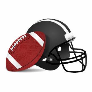 Sports Game Team Ball Football Photo Sculpture Keychain