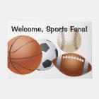 Sports Gameday Teams Balls Playoffs Doormat