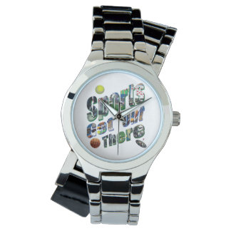 Sports Get Out There Picture Logo, Ladies Silver Watch