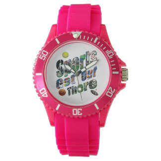 Sports Get Out There Picture Logo, Ladies Sports Watch