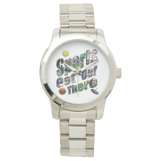Sports Get Out There Picture Logo, Large Unisex Watch