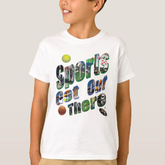 Sports Get Out There Picture Logo, T-Shirt