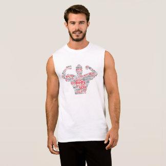 sports gym fitness. sleeveless shirt