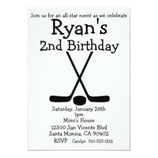 Sports Hockey Birthday Ice Hockey Invitations