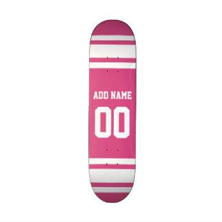 Sports Jersey avec le nom et le nombre - blanc ros Skateboards Personnalisables