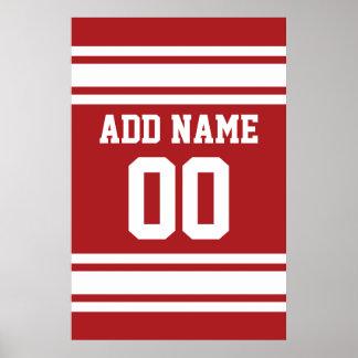 Sports Jersey avec votre nom et nombre Poster