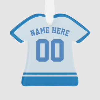 Sports Jersey Name & Number Back Print Template Ornament