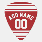 Sports Jersey with Your Name and Number Guitar Pick