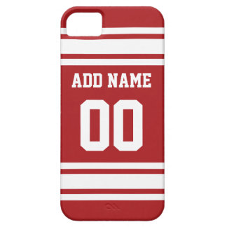 Sports Jersey with Your Name and Number iPhone 5 Cases