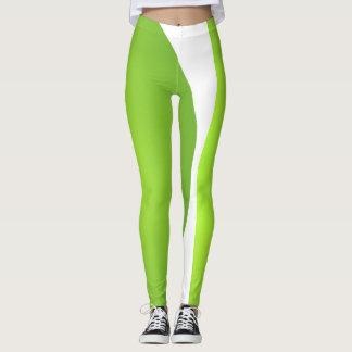Sports Lime White Trendy Sport Fashion Leggings