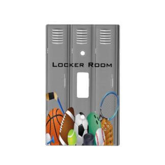 Sports Locker Room Design Light Switch Cover
