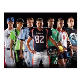 Sports multiples carte postale