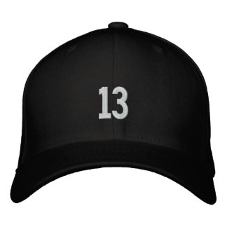 sports number 13 embroidered baseball cap