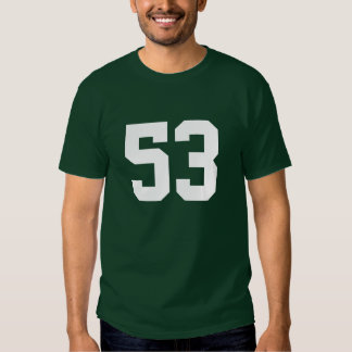 Sports number 53 t-shirt