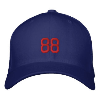 sports number 88 embroidered hats