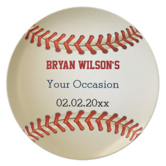 Sports Party Baseball theme Personalized Plate