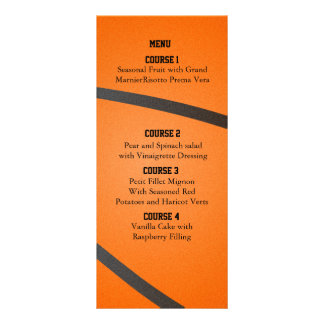 Sports Party Basketball theme Menu cards Rack Card Template