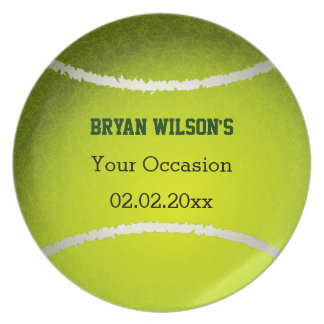 Sports Party Tennis theme Personalized Plate