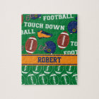 SPORTS Personalize Football Pattern for Children Jigsaw Puzzle