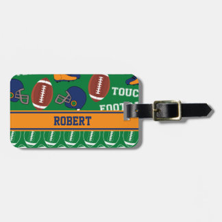 SPORTS Personalize Football Pattern for Children Luggage Tag