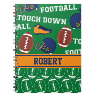 SPORTS Personalize Football Pattern for Children Note Book