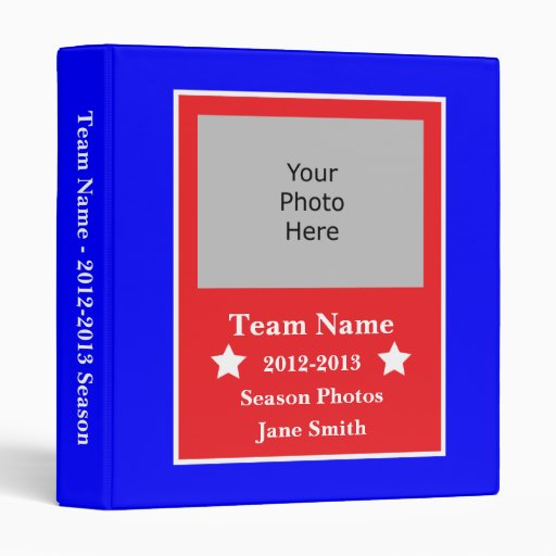 Sports Season Photo Binder - Red, White, and Blue
