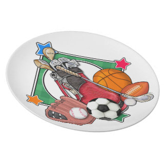 Sports Serving Party Plates