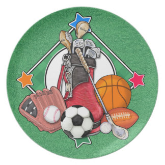 Sports Serving Plates