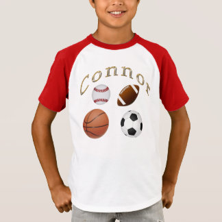 Sports Shirts for Kids for Connor or Delete Connor