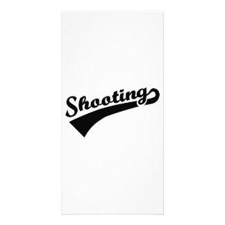 Sports shooting photo card