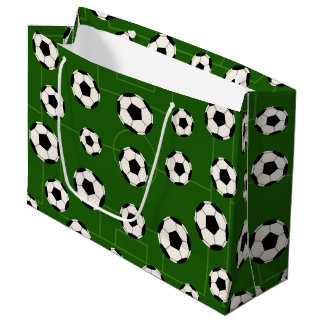 Sports soccer ball tiled pattern party bag