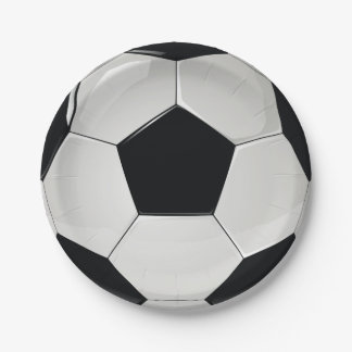 Sports Soccer Football Party Paper Plate