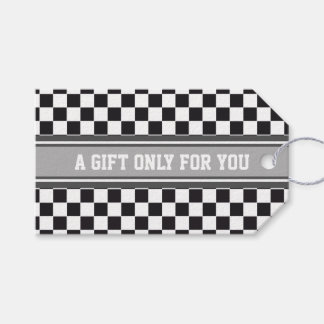 SPORTS STRIPES - Grey White + your text Pack Of Gift Tags