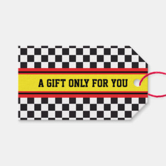 SPORTS STRIPES - Yellow Red Black + your text Pack Of Gift Tags