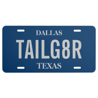 Sports Tailgate Tag | Custom Colors License Plate