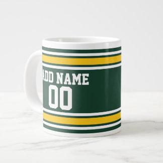 Sports Team Football Jersey Custom Name Number Jumbo Mug