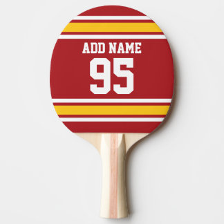 Sports Team Football Jersey Custom Name Number Ping Pong Paddle